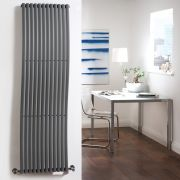 "Palero - Anthracite Vertical Single-Panel Designer Radiator - 63"" x 18"""