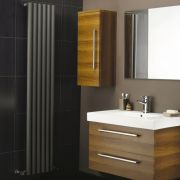 "Savy - Anthracite Vertical Single-Panel Designer Radiator - 63"" x 14"""