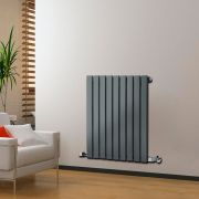 "Delta - Anthracite Horizontal Single Slim-Panel Designer Radiator - 25"" x 24.75"""