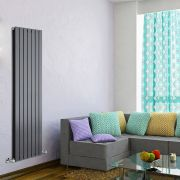 "Delta - Anthracite Vertical Double Slim-Panel Designer Radiator - 63"" x 19.25"""