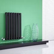 "Revive - Black Horizontal Single-Panel Designer Radiator - 25"" x 16.25"""