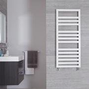"Firenze - White Hydronic Designer Towel Warmer - 47.25"" x 19.75"""