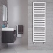 "Firenze - White Hydronic Designer Towel Warmer - 63"" x 19.75"""
