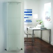 "Palero - White Vertical Single-Panel Designer Radiator - 63"" x 18"""