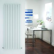 "Revive - White Vertical Single-Panel Designer Radiator - 63"" x 23.25"""