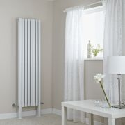"Revive Plus - White Vertical Double-Panel Designer Radiator - 70.75"" x 18.5"""