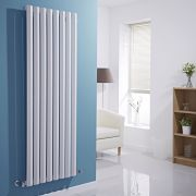 "Edifice - White Vertical Single-Panel Designer Radiator - 63"" x 22"""