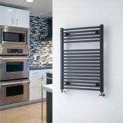 "Loa - Hydronic Anthracite Flat Heated Towel Warmer - 31.5"" x 23.5"""
