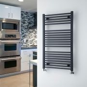 "Loa - Hydronic Anthracite Heated Towel Warmer - 39.25"" x 23.5"""