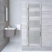"Linosa - Hydronic Chrome Heated Towel Warmer - 70.75"" x 19.75"""