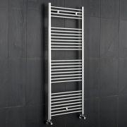 "Linosa - Hydronic Chrome Flat Heated Towel Warmer - 47.25"" x 23.5"""