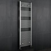 "Linosa - Hydronic Chrome Heated Towel Warmer - 70.75"" x 23.5"""