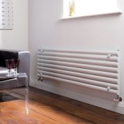 "Revive - White Horizontal Single-Panel Designer Radiator - 18.5"" x 70"""