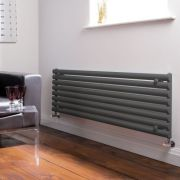 "Revive - Anthracite Horizontal Single-Panel Designer Radiator - 18.5"" x 63"""