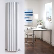 "Revive - White Vertical Double-Panel Designer Radiator - 70"" x 14"""