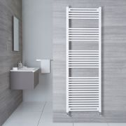 "Etna - Hydronic White Flat Heated Towel Warmer - 70.75"" x 23.5"""