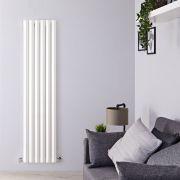 "Edifice - White Vertical Single-Panel Designer Radiator - 70"" x 16.5"""