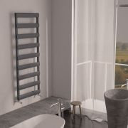 "Gradus  - Anthracite Hydronic Towel Warmer - 62.5"" x 19.75"""