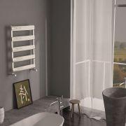 "Gradus  - Brushed Chrome Hydronic Towel Warmer - 31"" x 19.75"""