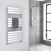 "Lustro  - Hydronic Chrome Heated Towel Warmer - 47.75"" x 23.5"""