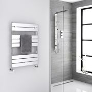 "Lustro  - Hydronic Chrome Heated Towel Warmer - 33"" x 23.5"""