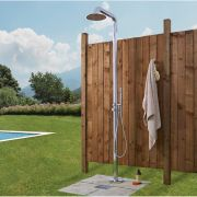 Seville - Freestanding Outdoor Shower with Handshower - Chrome