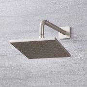 """Arcadia 8"""" Chrome  Square Shower Head with Wall Arm"""