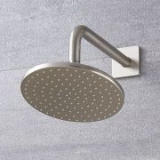"Eclipse 8"" Brushed Nickel Round Shower Head with Wall Arm"