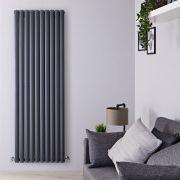 "Revive - Anthracite Vertical Double-Panel Designer Radiator - 70"" x 23.25"""