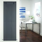 "Revive - Anthracite Vertical Single-Panel Designer Radiator - 70"" x 23.25"""