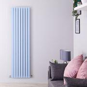 "Sloane - Baby Blue Double Flat Panel Vertical Designer Radiator - 70"" x 18.5"""