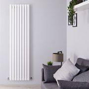 "Revive - White Vertical Single-Panel Designer Radiator - 70"" x 18.5"""