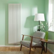 "Revive Centrix - White Vertical Double-Panel Designer Radiator - 70"" x 23.25"""