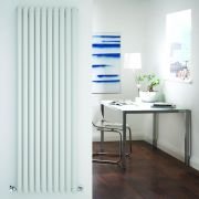 "Revive - White Vertical Single-Panel Designer Radiator - 70"" x 23.25"""