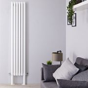 "Revive Plus - White Vertical Double-Panel Designer Radiator - 78.75"" x 14"""