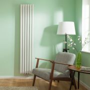 "Revive Centrix - White Vertical Double-Panel Designer Radiator - 70"" x 14"""