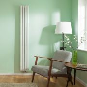 "Revive Centrix - White Vertical Double-Panel Designer Radiator - 70"" x 9.25"""