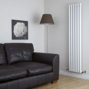 "Savy - White Vertical Single-Panel Designer Radiator - 70"" x 14"""