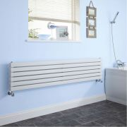 "Sloane - White Horizontal Double Flat-Panel Designer Radiator - 14"" x 70"""