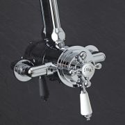 Exposed Traditional Thermostatic Dual Control Shower Faucet Valve With Chrome Finish