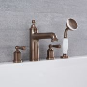 Colworth - Traditional Roman Tub Faucet with Hand Shower - Multiple Finishes Available