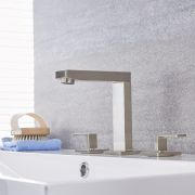 Kubix - Brushed Nickel Widespread Bathroom Faucet
