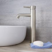 Quest - Brushed Nickel Single-Hole Vessel Faucet