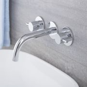 Quest - Chrome Widespread Wall Mounted Bathroom Faucet