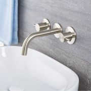Quest - Brushed Nickel Wall Mounted Bathroom Faucet
