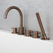 Quest - Oil-Rubbed Bronze Roman Tub Faucet with Hand Shower