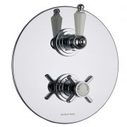 Beaumont Concealed 2 Outlet Twin with Diverter Thermostatic Shower Valve (Round Plate)