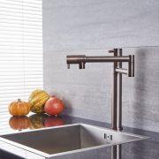 Quest - Oil-Rubbed Bronze Retractable Kitchen Sink Mixer