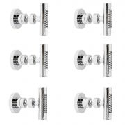 Tec Minimalist Body Spray Jet Shower Set of 6 Chrome Finish