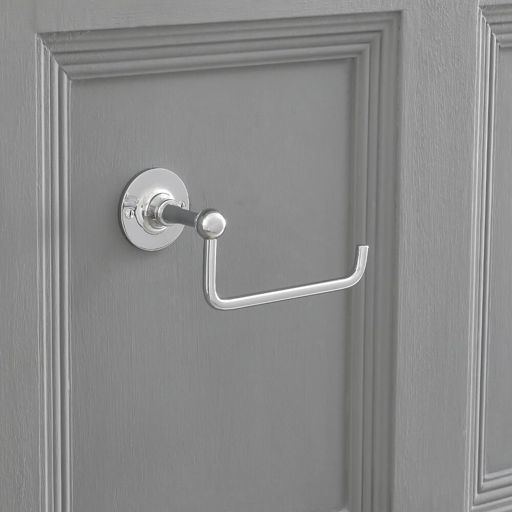 Dérouleur Papier Wc Metal toilet roll holder with chrome finish